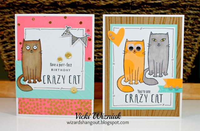 Wizard's Hangout: Purr-fect Halloween - August Stamp of the Month - Adorable Sample Cards! CTMH