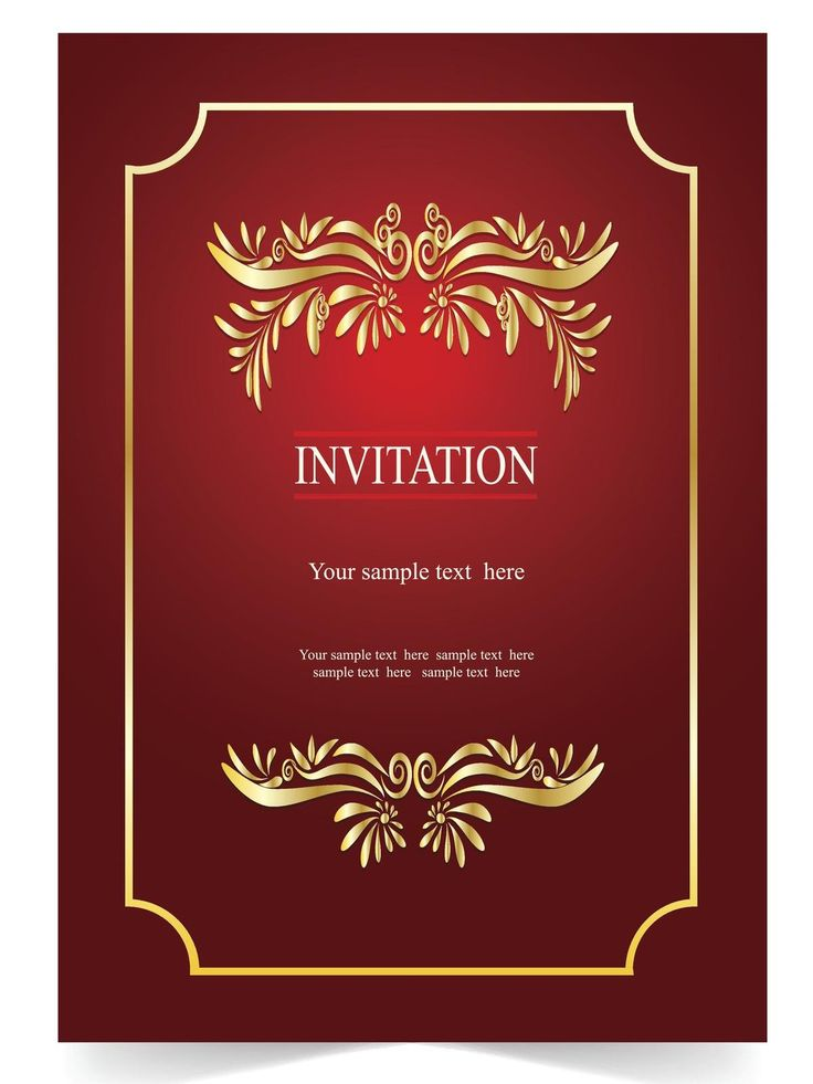 red wedding card  bday party invitations invitation card