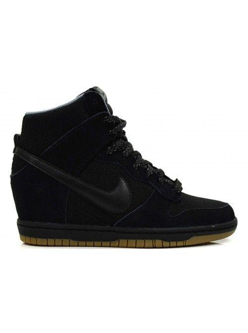 Shoes, Nike Sleehak, Dames Kleding Fashion, Nike Dunks, Nike Trainers, Nike Sneakers, Zwarte Dames Sneakers