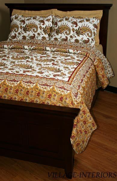 King Quilt Set FRENCH COUNTRY PROVENCE EXOTIC KING 100% COTTON QUILT +  SHAMS SET #