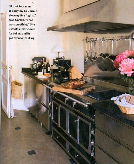 Ina Garten Kitchen, Cornue Range, Love The Stainless. Part 37