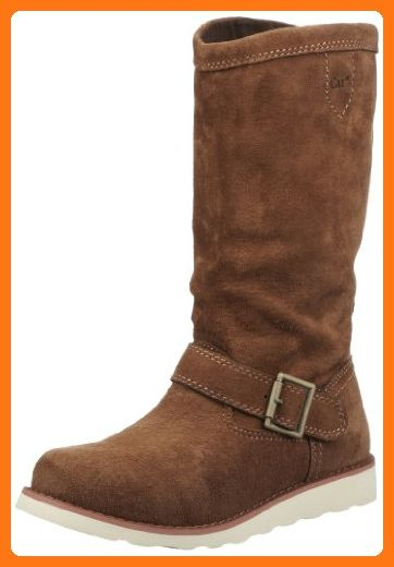Ladies Caterpillar Slouch Boots Claudette - Cola Suede Leather - UK Size 4 - EU Size 37 - US Size 6
