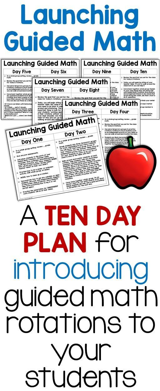 It can be hard to run guided math groups in the classroom. But if you start off by gradually releasing responsibility to your students, you will have a better chance for success. This ten day plan guides you through the process and will save you a lot of time later! #guidedmath