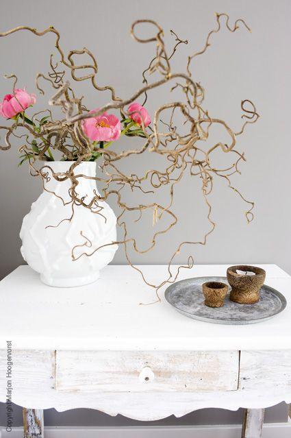 Takken met zijde bloemen www.decoratietakken.nl