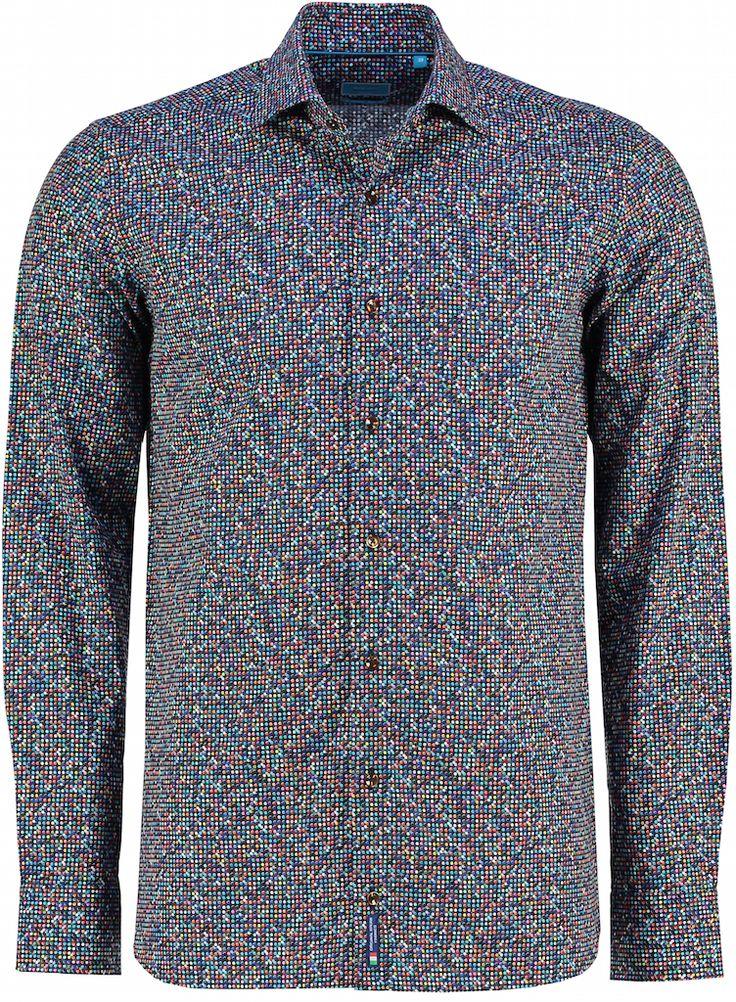 Nieuw: #overhemden van British Indigo. Zoals deze Disco Print Tutti Colore: https://www.shirtsupplier.nl/nl/overhemden/british-indigo-overhemd-disco-print-tutti-colore-1knoops-met-bruine-knopen