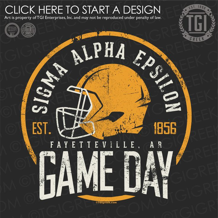 Sigma Alpha Epsilon | ΣΑΕ | SAE | Game Day | Homecoming | TGI Greek | Greek Apparel | Custom Apparel | Fraternity Tee Shirts | Fraternity T-shirts | Custom T-Shirts