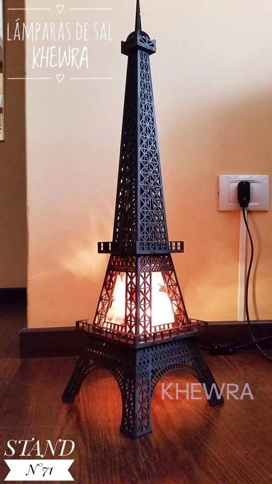 Lámpara de Sal Torre Eiffel Khewra www.khewra.com.ar