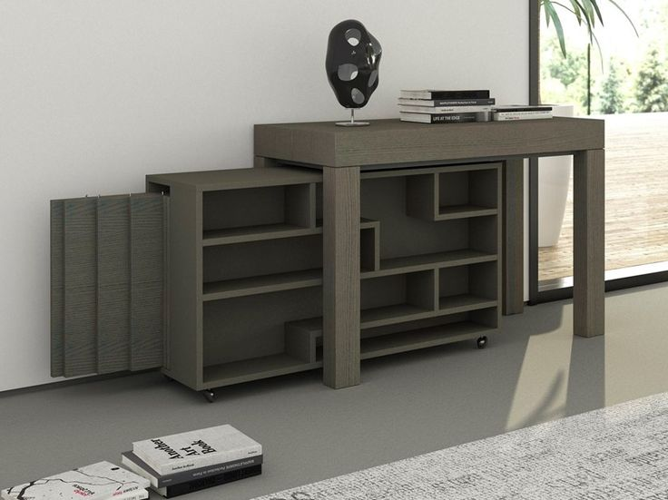 Freestanding wooden storage unit with casters