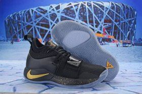 2608c763ec1e Paul George Nike PG 2. 5 Black Gold Men s Basketball Shoes Male Sneakers