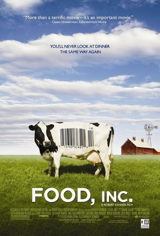 """and when you've watched """"Food Matters,"""" watch """"Food, inc."""" You will really think twice about what you eat."""
