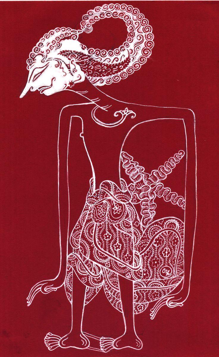 Sang Ardjuna - Kacskaringó, WAYANG puppet, ancient culture