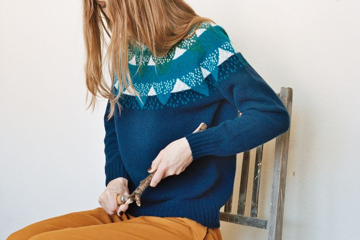 'Into the Woods' is Donna Wilson's second collection of women's knitwear, inspired by walks in the forest, thoughts on what it would be like to have a pet
