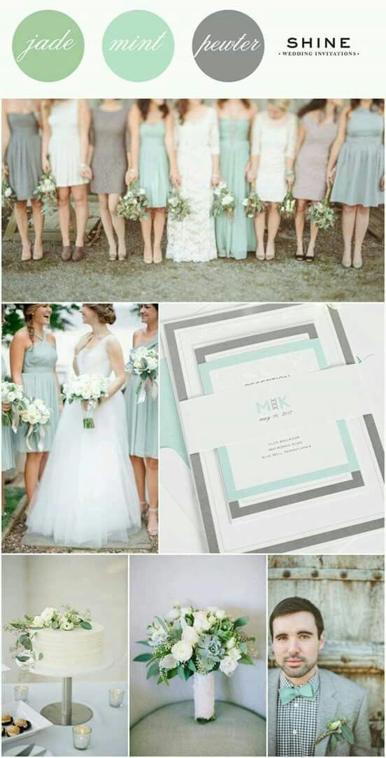 45 best Mint Wedding Ideas images on Pinterest | Casamento, Farben ...