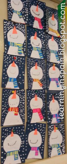 Snowman Craft Ideas On Pinterest Snowmen collage this would be