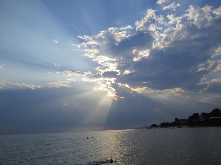 Kastri beach in Nikiti, greece
