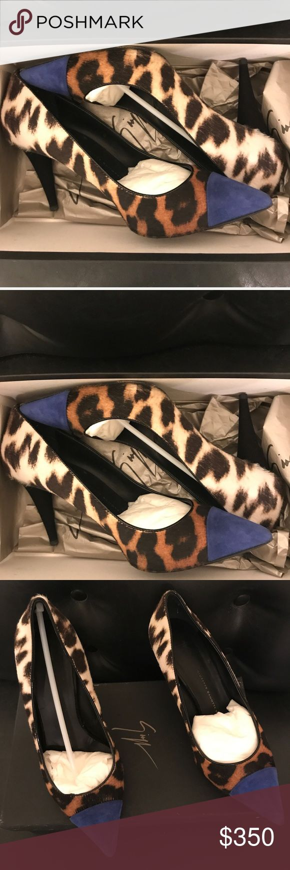 Giuseppe Zanotti Animal Print Calf Hair&Suede Pump 🔥🔥🔥🔥Authentic Giuseppe Zanotti....I've only gotten three wears out of them but received tons of compliments. Very stylish and comfortable at the same time. Giuseppe Zanotti Shoes Heels