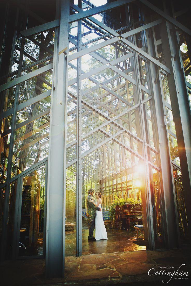 wedding at the glass chapel in eureka springs arkansas