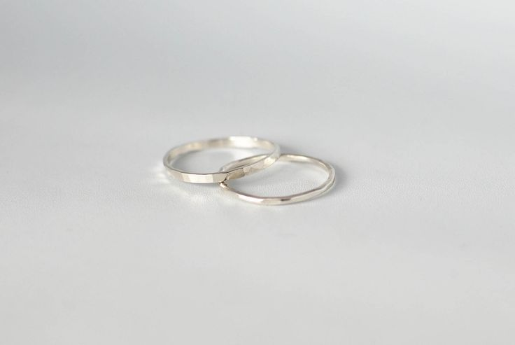 Simply Silver – minimalist silver ring. Simple's beautiful! It's as simple as that.  Details: Sterling silver, handmade in Stockholm, hammered finish (it glitters in the sun!)