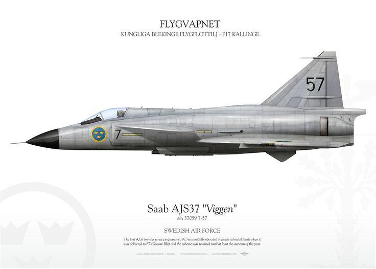 SWEDISH AIR FORCE . FLYGVAPNET KUNGLIGA BLEKINGE FLYGFLOTTILJ - F17 KALLINGE RONNEBY FLYGPLATS I KALLINGE, BLEKINGE. 1973