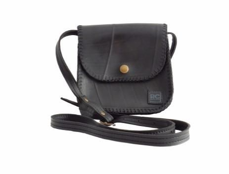 Recycled inner tube cross body purse - Recycle Creative