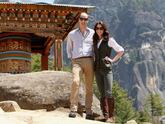Prince William, Duke of Cambridge and Catherine, Duchess of Cambridge in Bhutan…