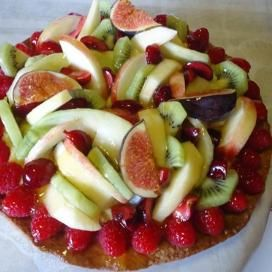Recepten (fruittaart met koekjesdeeg)