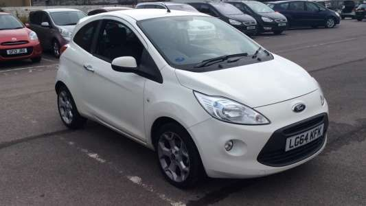 Used 2014 (64 reg) White Ford KA 1.2 Titanium 3dr (Start Stop) for sale on RAC Cars
