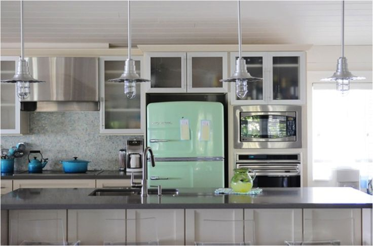 Gorgeous with big chill jadeite fridge
