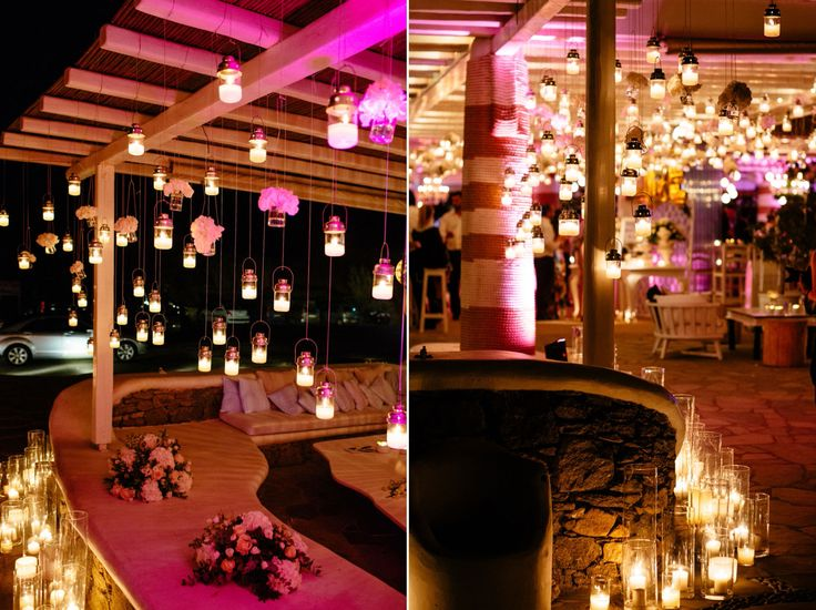 As romantic as it gets.... <3 unlimited candles filled up the wedding party!