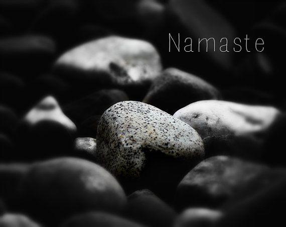 Namaste  Minimalist Namaste Fine Art Photograph  Black by SevenTen, $12.00