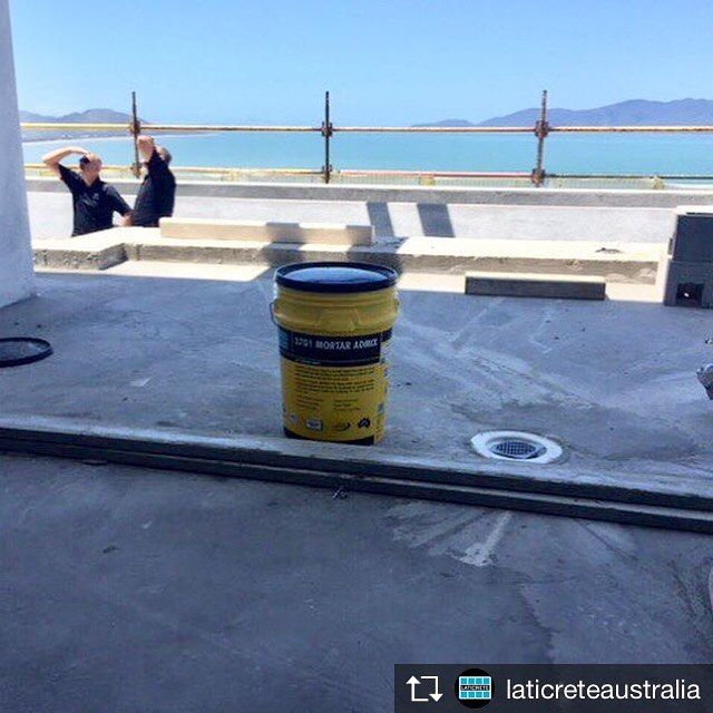 Repost from @laticreteaustralia  What a view! Last week LATICRETE traveled to Far North Queensland and visited the team from Harries Rendering on-site in Townsville where they are using 226 Thick Mortar Bed with 3701 Mortar Admixture for their render mixes! #harriesrendering #render #rendering #mortar #cement #admix #thickbed #portlandcement #laticreteaustralia #laticrete #laticreteproducts #pool #view #townsville #fnq #farnorthqueensland #qld #tile #stone #installation #construction