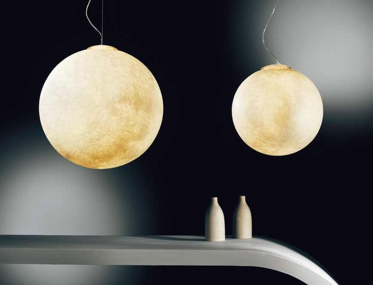 LUNA XL pendant: This metaphoric pendant creates an efficient and functional light source as well as an atmospherical and evocative lighting.  http://shop.classicdesignitalia.com/en/cdi-collection-luna-xl