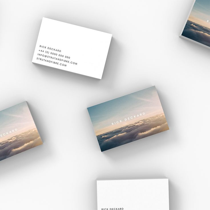 Deckard – one of our Image business card templates available to customise and order on our site.