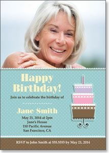 Happy Birthday Cake - Photo Birthday Card from Kindred Greetings. Customize with your own photo and event details.