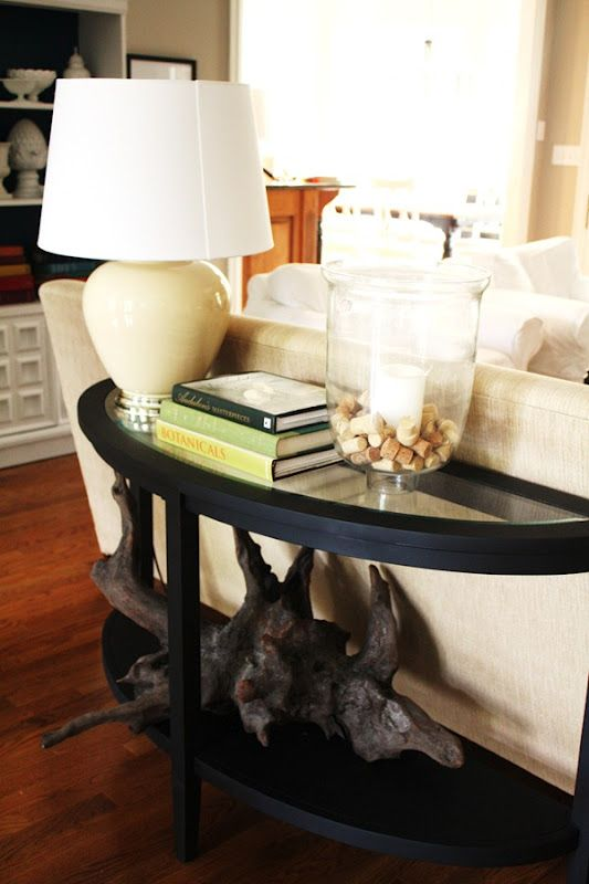 Sofa Table Inspiration {Styling the Console Table}
