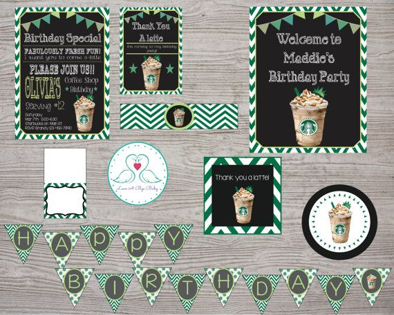 Starbucks Cafe Coffee Shop Inspired Birthday Party by LoveAByeBaby
