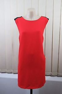 Size 2XL 18 Ladies RED Shift Dress Tunic Business Chic MOD Retro Office Design | eBay
