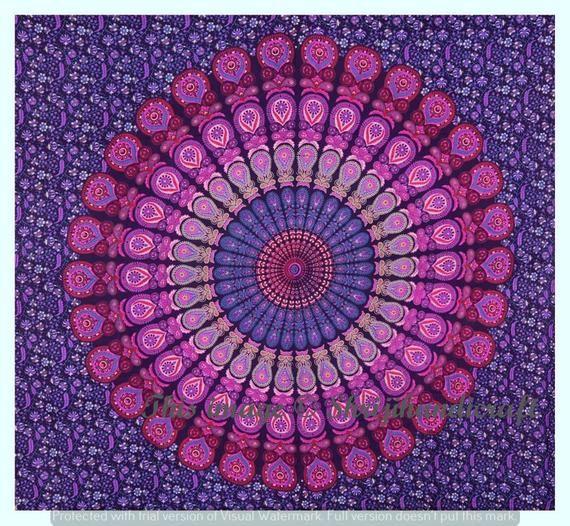 Cotton Mandala Tapestry Wall Hanging Wall Tapestry Wall Hanging Mandala Tapestry Hippie Tapestry Tapestry Mandala Bohemian Indian Tapestry