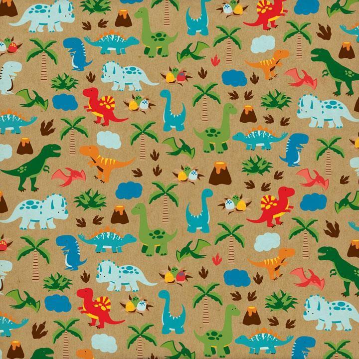 605 best scrapbook 8 baby kids theme images on pinterest mermaid paper and echo park - Paperboy dinosaur wallpaper ...