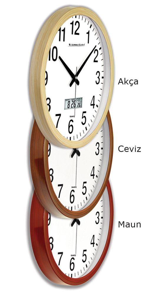 Ahşap Görünümlü Duvar Saati Modeli  Ürün Bilgisi ;  Ürün maddesi : Plastik çerceve, Gerçek cam Ebat : 40 cm  Yuvarlak Sadece Duvar Saati Modeli Mekanizması (motoru) : Akar saniye, saat sessiz çalışır Saat motoru 5 yıl garantilidir Yerli üretimdir Sağlam ve uzun ömürlü kullanabilirsiniz Kalem pil ile çalışmaktadır Gördüğünüz ürün orjinal paketinde gönderilmektedir. Sevdiklerinize hediye olarak gönderebilirsiniz