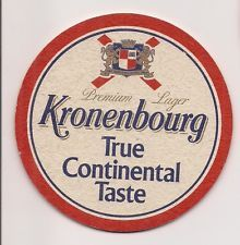 SOUS BOCK  BIERE   KRONENBOURG  TRUE CONTINENTAL  TASTE