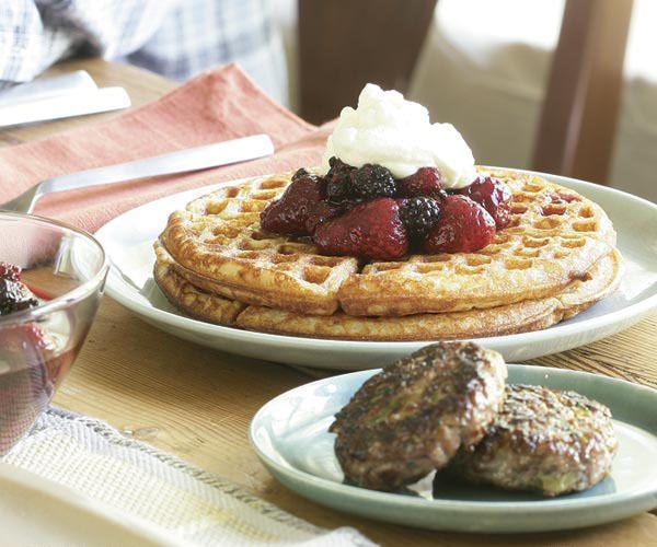 Hazelnut Waffles by Fine Cooking | Breakfast Recipes | Pinterest