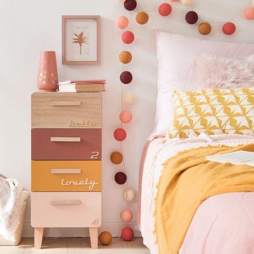 Petit meuble de rangement 4 tiroirs multicolore