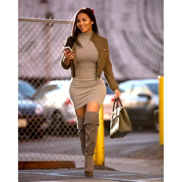 Grey sleeveless fitted dress Beautiful fitted sleeveless dress. Fits the body perfectly giving great shape. Zip up back. Worn once for a photo shoot. Hot Miami Styles Dresses Midi