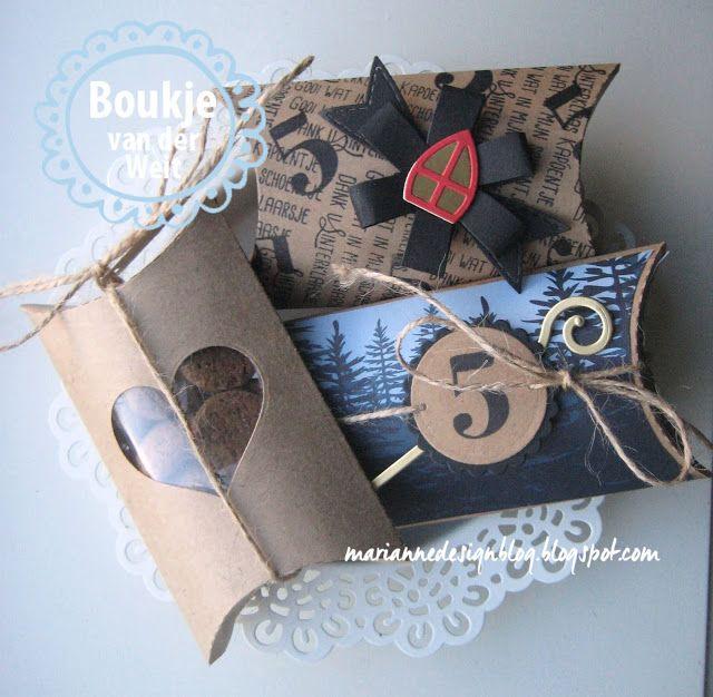 Wat zijn de Pillowbox doosjes leuk! Ik ben nu aan de slag gegaan voor Sinterklaas, ze zijn leuk om te gebruiken als schoencadeautje bijvo...