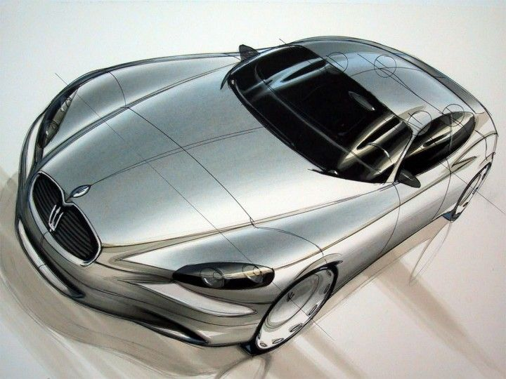 Daily Sketch: a design study for the 2004 Maserati Quattroporte  find more sketches at: