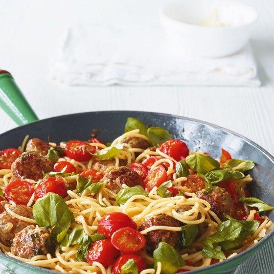 Spaghetti mit Mettbällchen