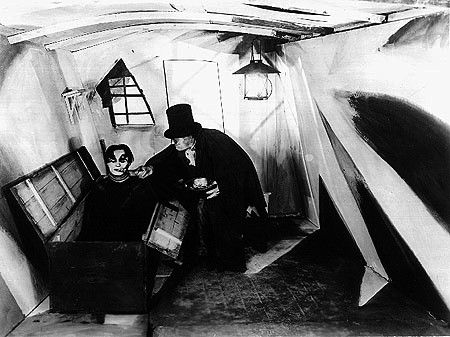 """From """"The Cabinet of Dr. Caligari.""""  Why don't we make movies that look like this anymore?!"""