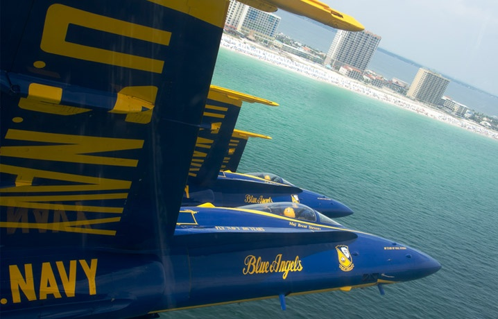 The Blue Angels Air Show - be sure to check out their practice session schedule