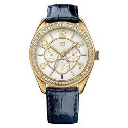 Tommy Hilfiger Navy Leather Strap Women's Watch #1781270